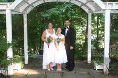 De familieportret van het huwelijk Royalty-vrije Stock Foto