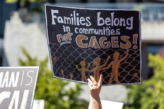 De families behoren samen San Francisco stock foto
