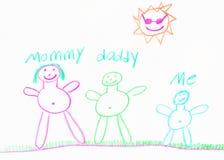 De familietekening van het kind Royalty-vrije Stock Foto
