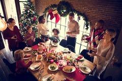 De famille concept de célébration de Noël ensemble photographie stock libre de droits