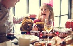 De famille concept de célébration de Noël ensemble images libres de droits