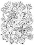 De fantasie bloeit kleurende pagina Royalty-vrije Stock Afbeeldingen