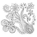 De fantasie bloeit kleurende pagina Royalty-vrije Stock Fotografie