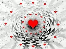 De fantasie van de abstractie voor vakantie - de dag van Valentijnskaarten Royalty-vrije Stock Afbeelding