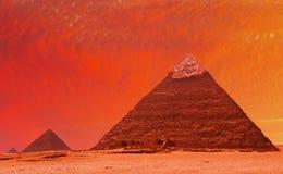 De fantasie van de piramide stock foto