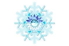De Fantasie van de sneeuwvlok vector illustratie