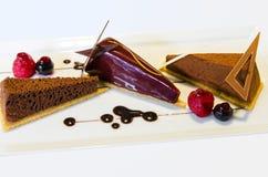 De fantasie van het chocoladedessert royalty-vrije stock afbeeldingen