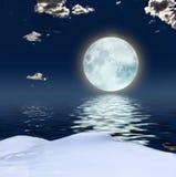 De fantasieachtergrond van de winter stock illustratie