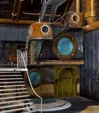 De fantasielaboratorium van de Steampunkstijl royalty-vrije illustratie