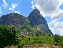 De fantastische aard van Mozambique. Bergen. Afrika, Mozambiqu Royalty-vrije Stock Foto's