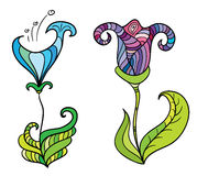 De fantastische bloemen van de kleur Royalty-vrije Stock Afbeelding