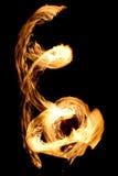 De fantastische Brand toont bij nacht Stock Afbeeldingen