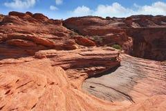 De fantastische klippen van rood zandsteen. Royalty-vrije Stock Foto's