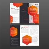 De farmaceutische Lay-out van het brochure trifold malplaatje met geplaatste pictogrammen stock illustratie