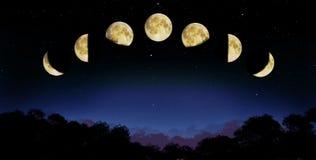 De fase van de maan Stock Afbeelding