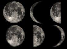 De fasen van de Maan Stock Afbeelding