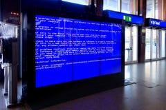 De fatale fout Videowall van de systeemcomputer Stock Afbeelding