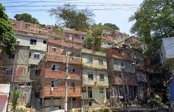 de favela janeiro rio Royaltyfri Fotografi