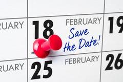 18 de febrero Foto de archivo libre de regalías