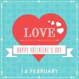 14 de febrero, concepto de la celebración del día de tarjeta del día de San Valentín Imagen de archivo libre de regalías