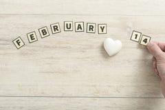 14 de febrero concepto de la tarjeta del día de San Valentín Imagen de archivo libre de regalías