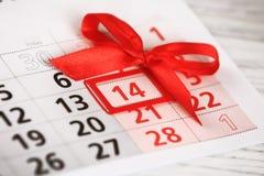 14 de febrero - día de tarjetas del día de San Valentín Imagen de archivo libre de regalías