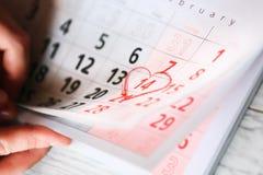 14 de febrero - día de tarjetas del día de San Valentín Fotografía de archivo libre de regalías