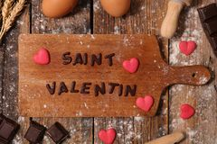 14 de febrero, día del ` s de la tarjeta del día de San Valentín Fotografía de archivo libre de regalías