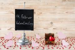 14 de febrero día del ` s de la tarjeta del día de San Valentín Imagen de archivo
