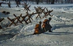 26 de febrero de 2017 el día de fiesta de Maslenitsa en Borodino Foto de archivo