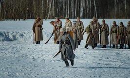 26 de febrero de 2017 el día de fiesta de Maslenitsa en Borodino Fotografía de archivo