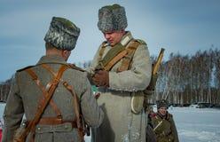 26 de febrero de 2017 el día de fiesta de Maslenitsa en Borodino Imágenes de archivo libres de regalías