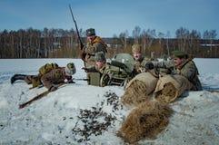 26 de febrero de 2017 el día de fiesta de Maslenitsa en Borodino Fotos de archivo