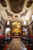 25 de febrero de 2017 Italia, la Venecia El interior del Cathol Imagen de archivo libre de regalías