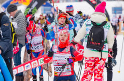 11 de febrero de 2017 maratón anual 2017 del esquí de Nikolov Perevoz Russialoppet de la raza de esquí del estado del arte-Verete Imagen de archivo libre de regalías