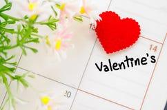 14 de febrero del día de tarjetas del día de San Valentín del santo Imagen de archivo libre de regalías