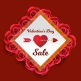 14 de febrero - el día de tarjeta del día de San Valentín ilustración del vector