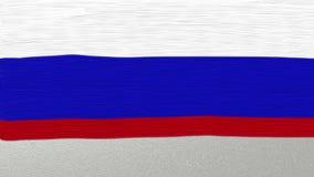 23 de febrero inscripción en el fondo ruso de la bandera almacen de video