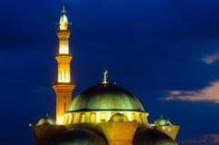 De Federale moskee van het Grondgebied, Kuala Lumpur Malaysia tijdens zonsopgang Stock Foto's