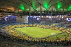 De federaties vormen 2013 tot een kom - Brazilië x Spanje - Maracanã Stock Afbeelding