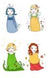 De feeën van het seizoen Royalty-vrije Illustratie