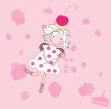 De fee van Cupcake Royalty-vrije Stock Foto