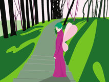 De fee van de lente Royalty-vrije Illustratie