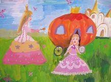 De fee van de kind` s tekening van een verhaal Royalty-vrije Stock Afbeeldingen