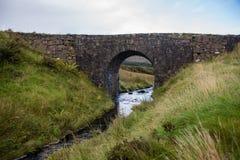 De feebrug dichtbij Dunvegan, Skye royalty-vrije stock foto