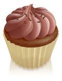 De feecake van de chocolade cupcake Royalty-vrije Stock Fotografie