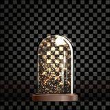 De feelichten van de Kerstmislamp onder een glasdekking stock illustratie