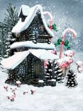 De feeplattelandshuisje van de winter Royalty-vrije Stock Fotografie
