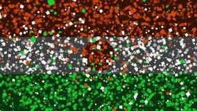 De feest geanimeerde achtergrond van vlag van Niger verschijnt van vuurwerk royalty-vrije illustratie