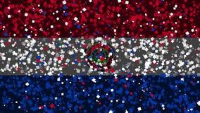 De feest geanimeerde achtergrond van vlag van Paraguay verschijnt van vuurwerk stock illustratie